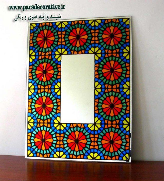 نقاشی سنتی ایرانی در حاشیه آینه
