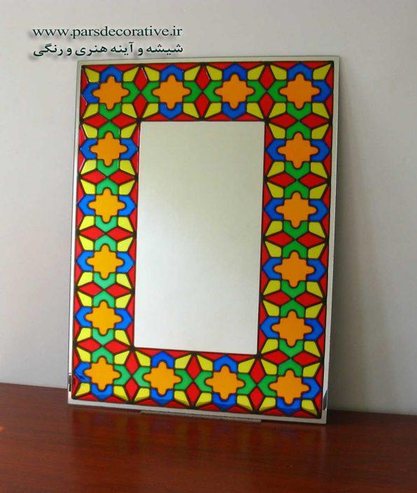 نقاشی رنگی در حاشیه آینه سایز بزرگ