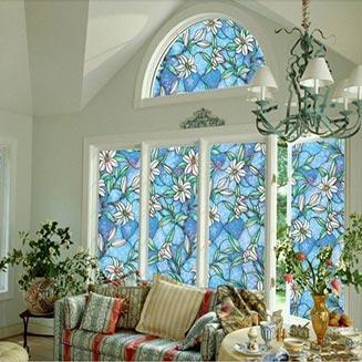 نمای شیشه رنگی بسیار زیبا در منزل