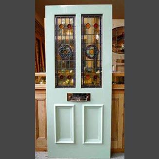 درب منزل با شیشه رنگی