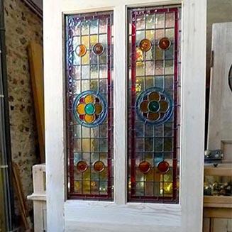 شیشه رنگی درب منزل