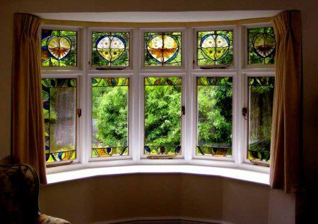 زیباسازی شیشه های ساده