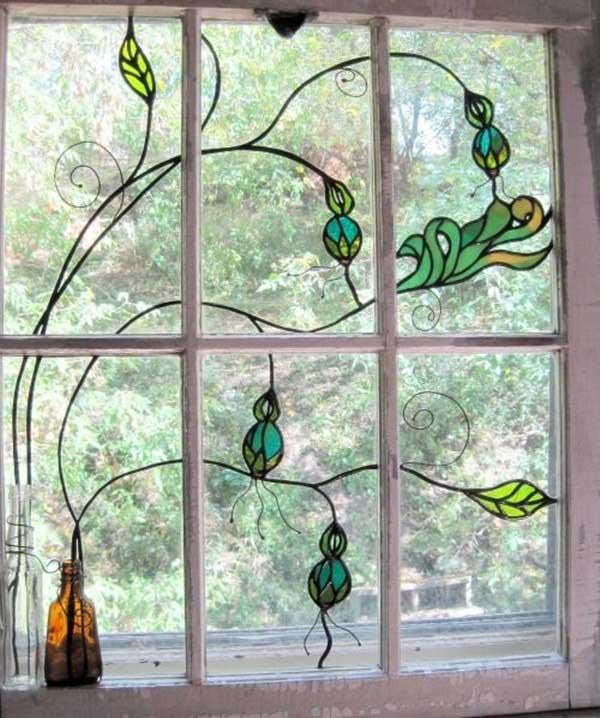 20 طرح نقاشی روی شيشه پنجره و توضيحاتی کاربردی برای مبتدی