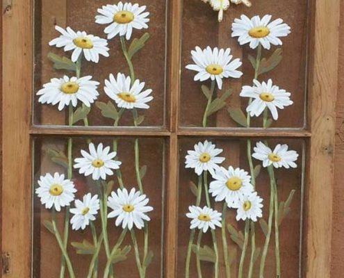 طرح نقاشي روي شيشه پنجره