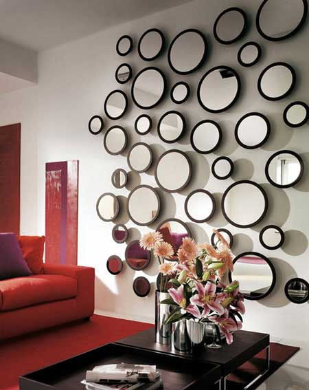 استفاده از چندین آینه روی دیوار