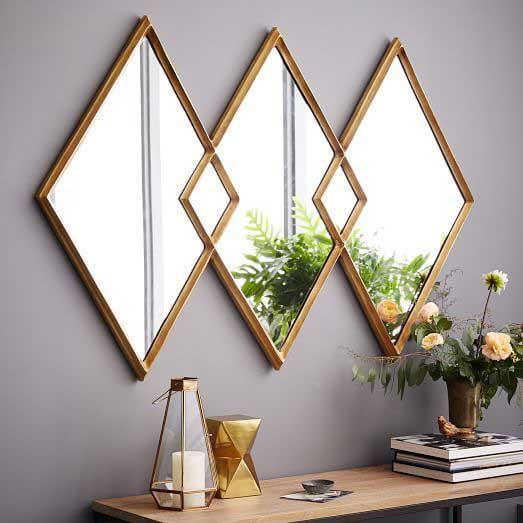 آینه های لوزی و طرح دار