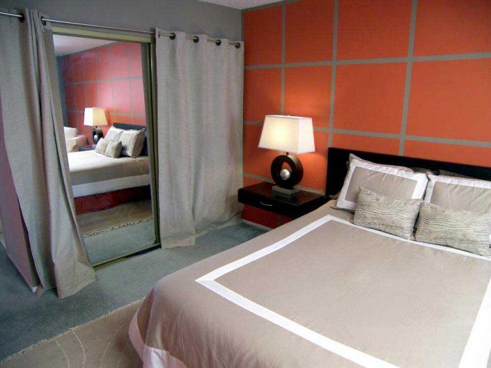 آینه قدی پرده دار اتاق خواب