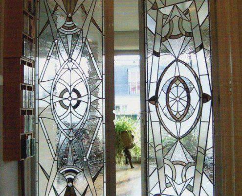 استین گلاس شیشه درب ورودی ساختمان