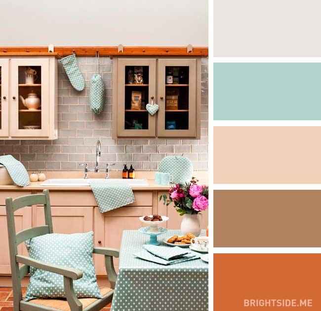 رنگ های مکمل در دکور آشپزخانه