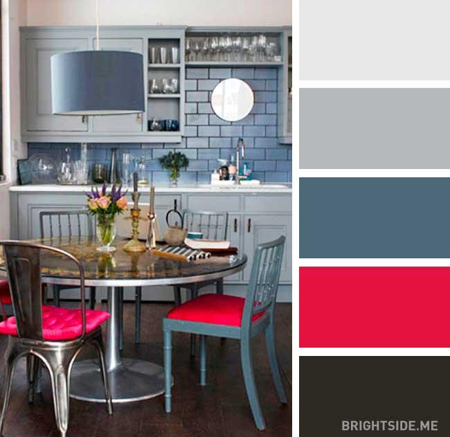 دکور آشپزخانه رنگی