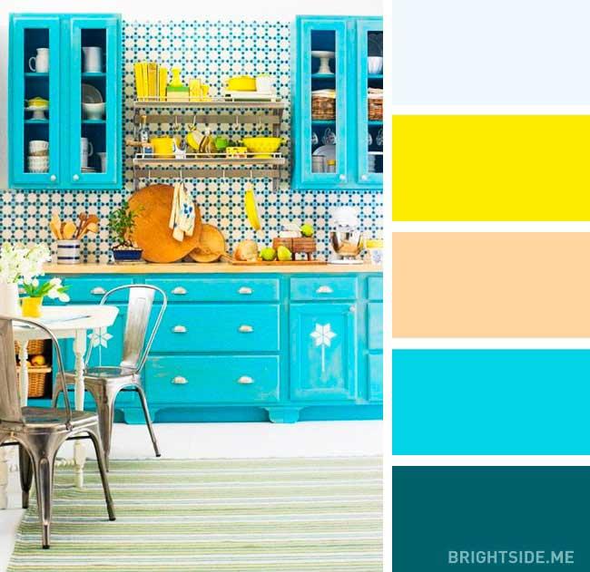 ست کردن رنگ کابینت ها با کاشی آشپزخانه