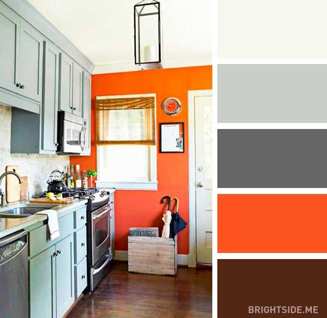 رنگ مکمل نارنجی در دکوراسیون
