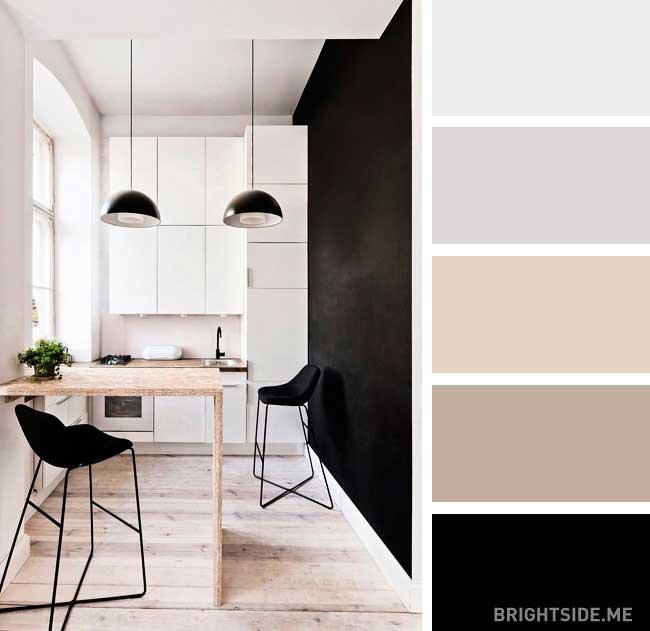 وانشناسی رنگ مشکی در دکور آشپزخانه