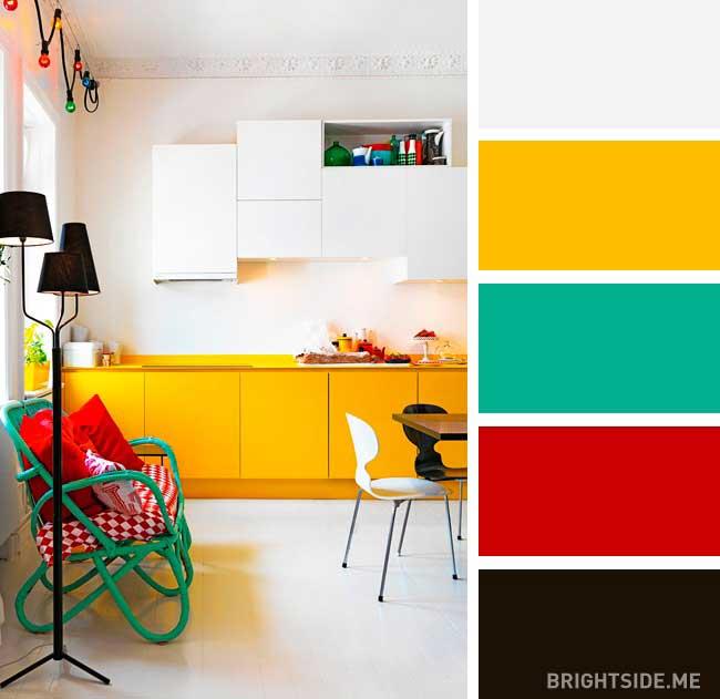 رنگ های مکمل زرد در دکوراسیون