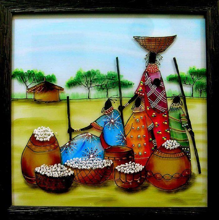 تابلو طرح ویترای آفریقایی
