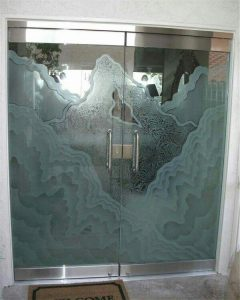 شیشه های تزئینی درب ورودی ساختمان