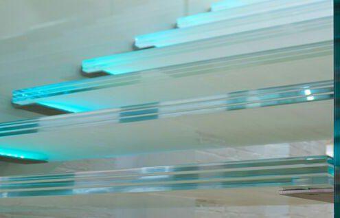 شیشه لمینت چند لایه در پله