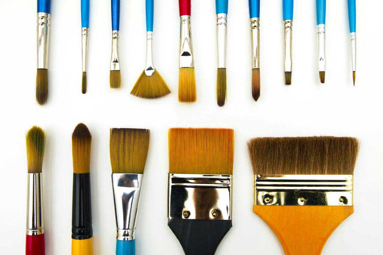 شناخت انواع قلمو برای نقاشی روی شیشه