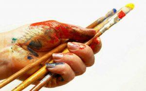 قلمو مورد استفاده در نقاشی روی شیشه